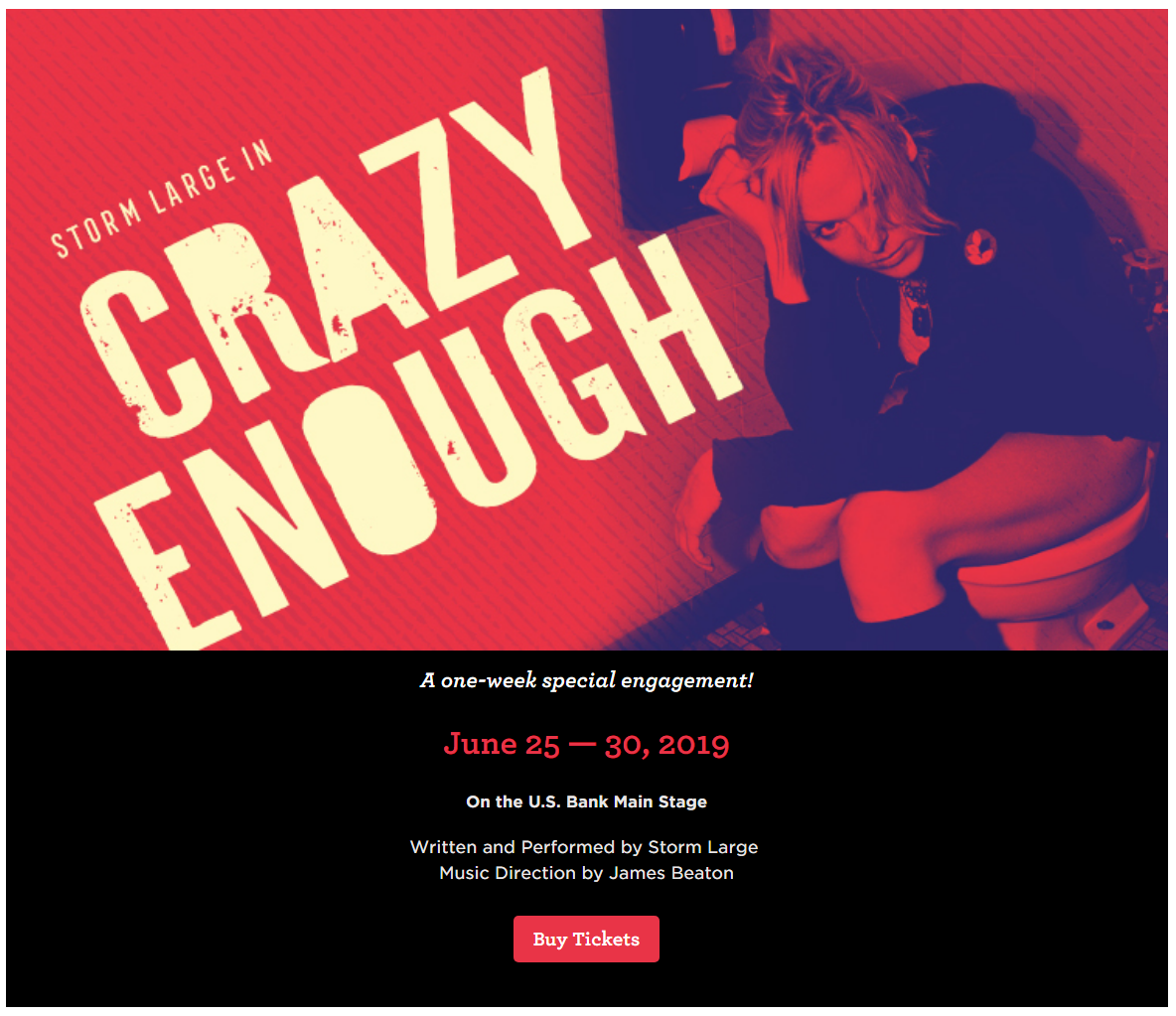 Storm Large in Crazy Enough Portland Center Stage at The Armory